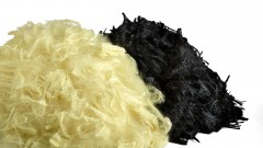 Twaron black and yellow staple fiber