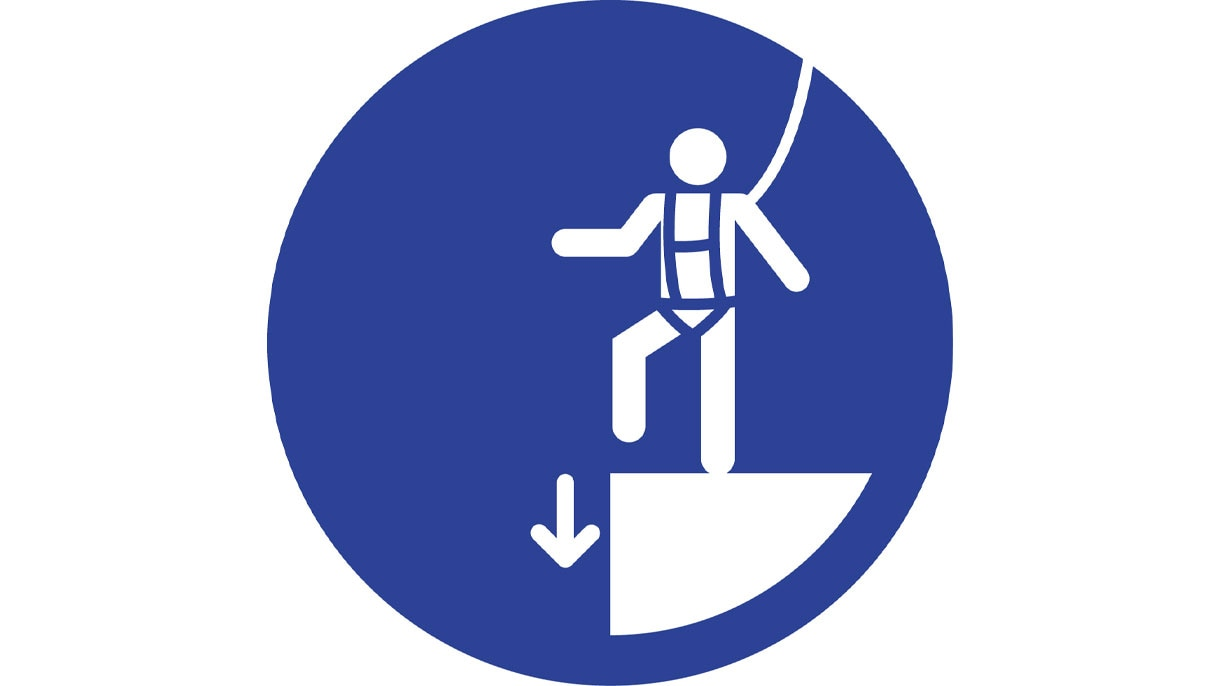 Use fall protection when working at heights