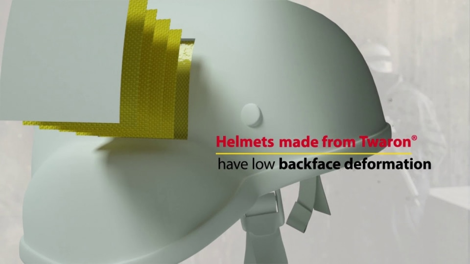 The benefits of Twaron® aramid for ballistic helmets
