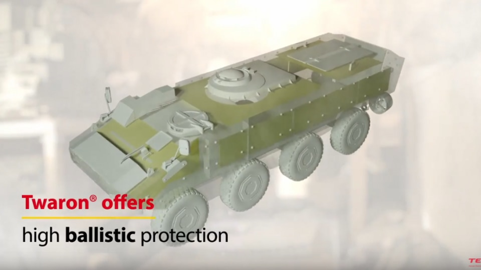 The benenfits of Twaron® aramid for military vehicle protection